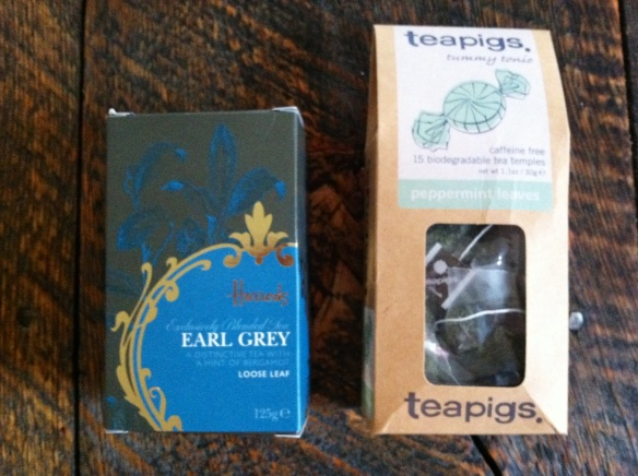 My special stash of British teas.