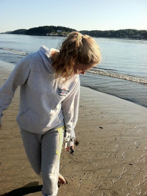 Marleigh at Popham Beach, Maine.  Labor Day 2012.  She chose this photo.