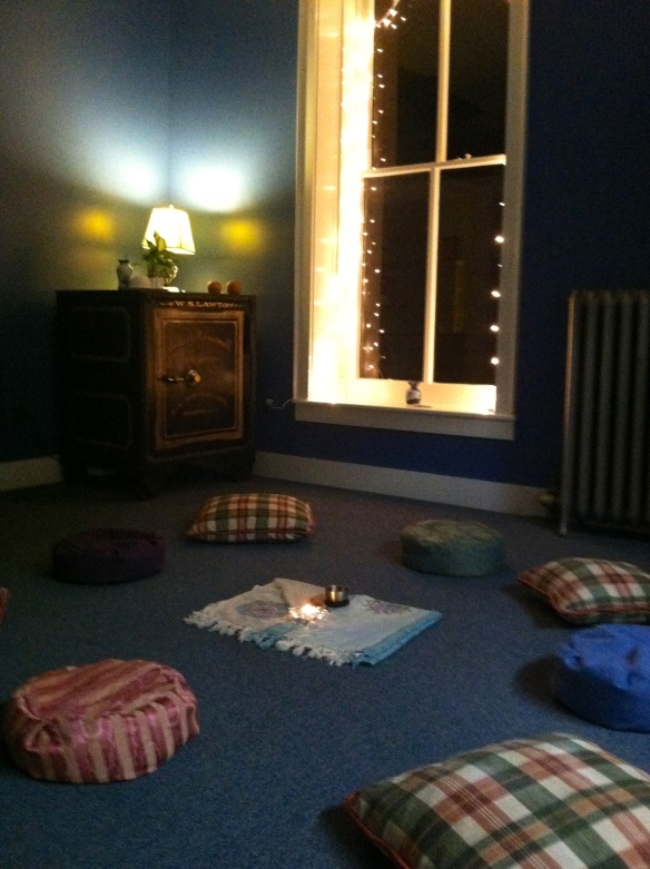 The Meditation Room at Stairway Healing Arts Center after tonight's meditation circle.