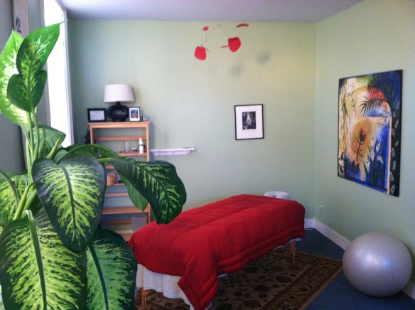 My massage studio at Stairway Healing Arts Center.