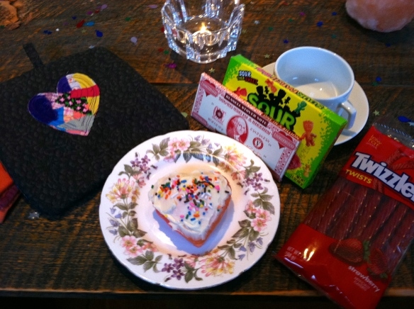 Valentine breakfast at our house.