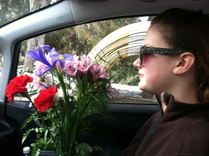 Have flowers, will travel.  :-)