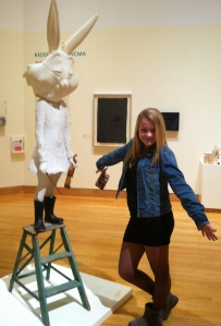 Delaney & The Rabbit, Williams College Art Museum