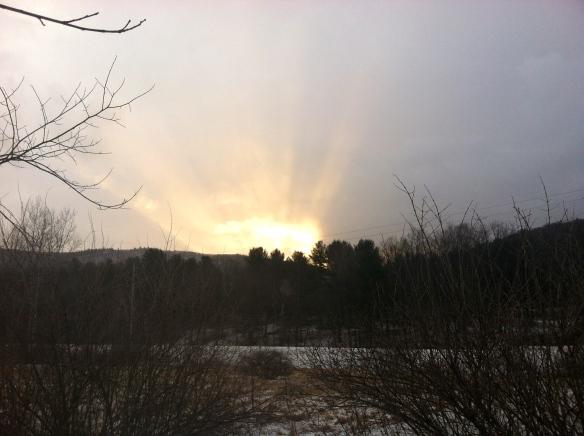 Sunrise today.