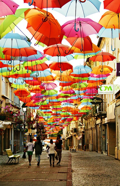The Umbrellas of Agueda, Portugal  (thanks Pinterest!)
